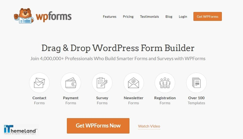 wp Forms plugin for WordPress
