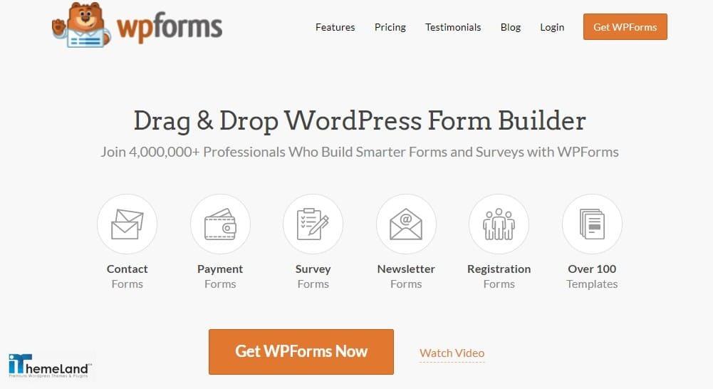 WP form plugin