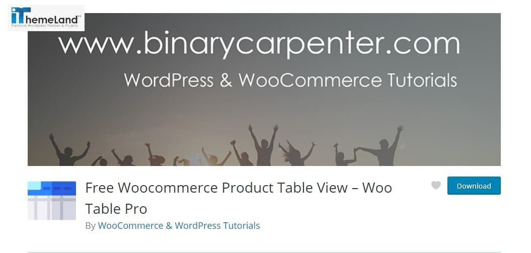 Woo Product Table Pro plugin (Free WooCommerce Product Table View)