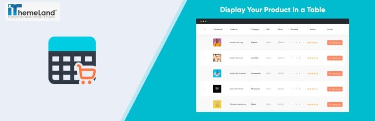 Product Tables for WooCommerce plugin