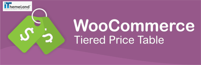 WooCommerce Tiered Pricing Table Plugin