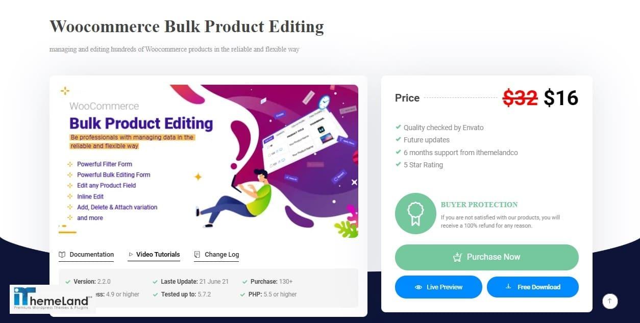 Woocommerce Bulk Product Editing