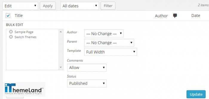 edit multiple pages at ones