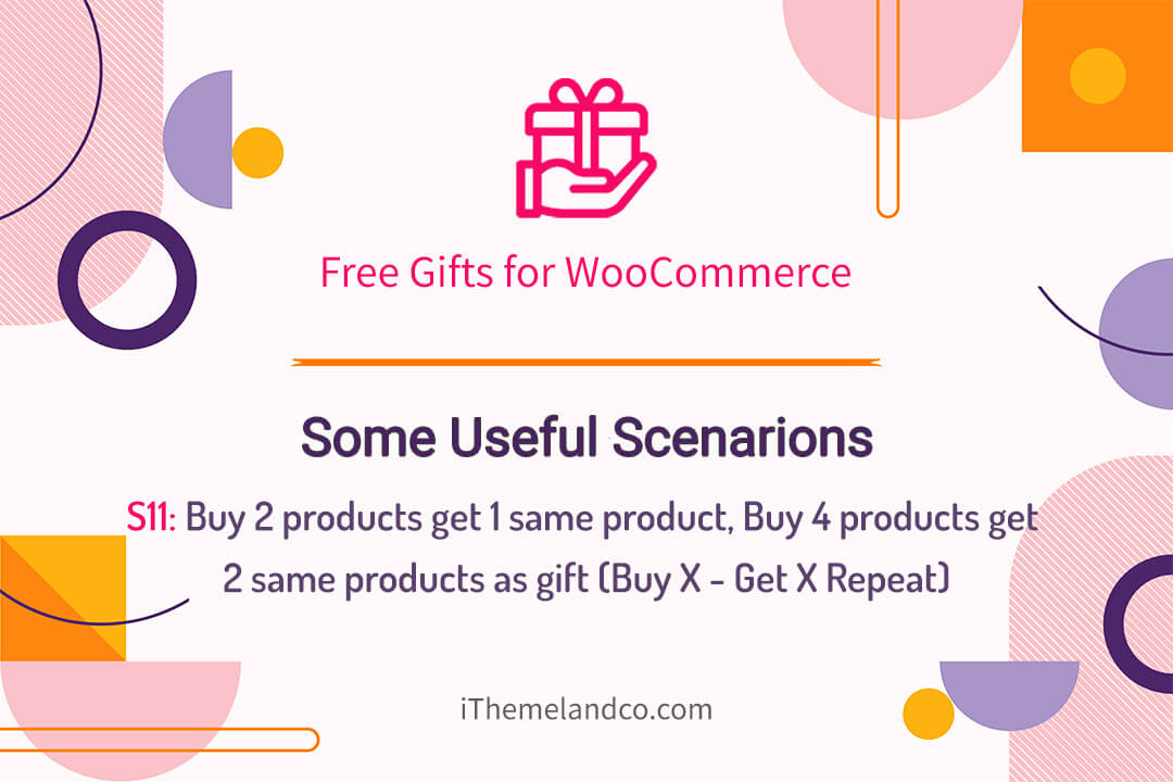 Buy 2 products get 1 same product, Buy 4 products get 2 same products as gift