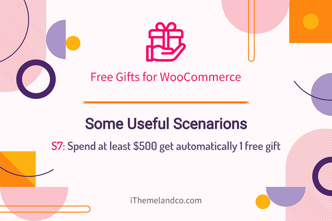 Spend at least $500 get automatically 1 free gift